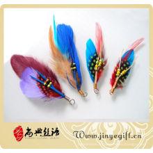 Accessoires faits sur commande de plume naturelle faite main, plume de Docration colorée
