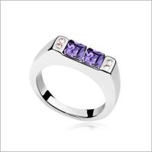VAGULA Fashion Square Zircon alliage anneau