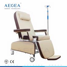 AG-XD208A Uso de la flebotomía del paciente de medicación ajuste mecánico silla de enfermería del hospital