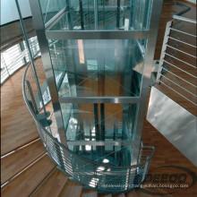 Ascenseur antique de maison de passager d'ascenseur d'antiquité d'hôtel en verre de villa petit