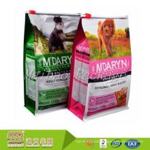 Custom Made 100% Food Grade Square Bottom Slider Zipper Reusable Dog Treat Packaging Pouch Dog Food Packing