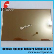 Cristal reflectante de bronce dorado de 6 mm con certificado de ce