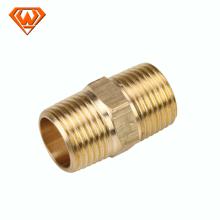 unión de cobre amarillo con los pezones ambos terminan el tipo de la soldadura para el tubo od76.1mm