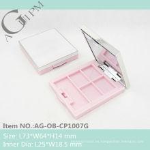 Plástica Rectangular sombra caso con espejo AG-OB-CP1007G, empaquetado cosmético de AGPM, colores/insignia de encargo