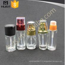 Bouteille cosmétique colorée en gros décorative de lotion de verre de 30ml 50ml avec la pompe