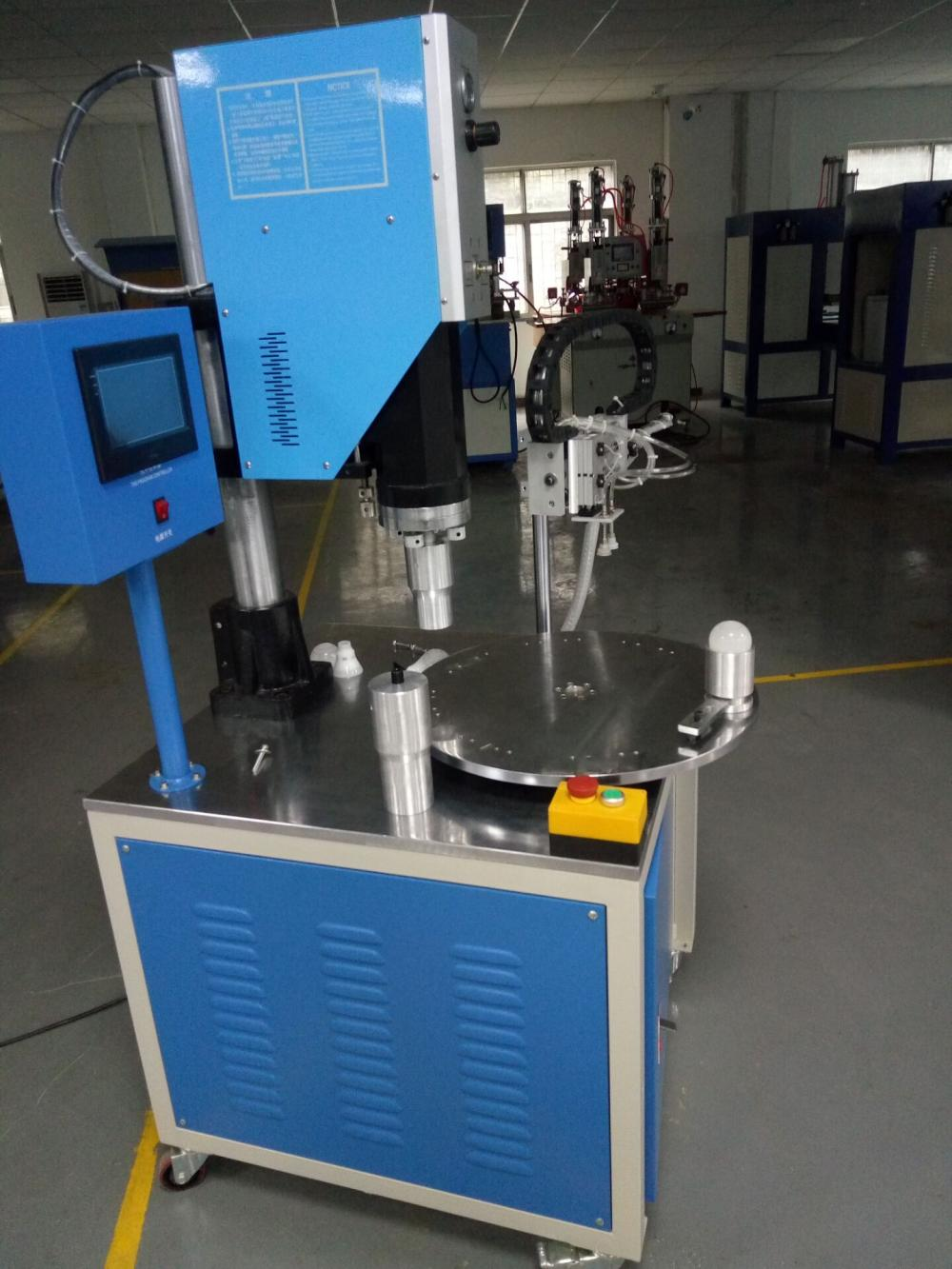 Meja Rotary PP LED Bulb Ultrasonic Welding Machine