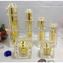 Квадратные акриловые бутылки для декоративного лосьона