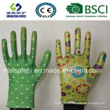 Nitrile Coated Labor Protective Garden Safety Work Gloves