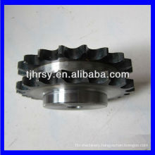Double roller chain sprocket