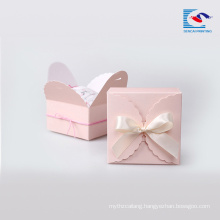 Lower Price custom exquisite lovely pink color gift packaging paper box