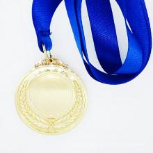 Qualitäts-kundenspezifische Goldmalerei-Preis-Medaille mit Bändern