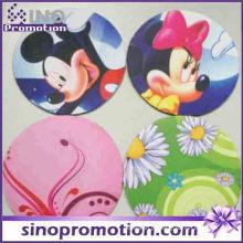 Hot Silicone Coaster rodada Animal Print Cup Mat