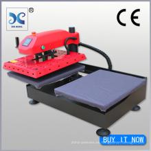 FJXHB1-2 estaciones de trabajo intercambiables duales Máquina neumática de la prensa del calor para las camisetas