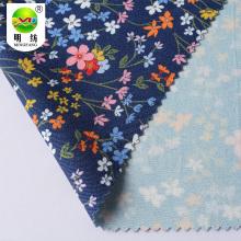 Wholesale custom printed spun rayon drill dress fabric