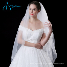 Elegante Simple Tulle De Alta Calidad Blanco Elegante Velo Nupcial De La Boda