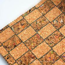 Tela de cuero artificial natural del corcho para el marco de la foto