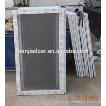 fenêtre en pvc avec moustiquaire fixe en acier inoxydable
