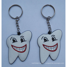 Porte-clés Slicone, porte-clés en forme de dent (GZHY-KA-011)