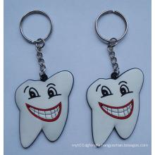 Slicone Key Ring, Tooth Shape Keychain (GZHY-KA-011)