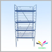 Benutzerdefinierte Boden Standing Metal Wire Folding Tier Regal für Display Getränk Flasche Wasser