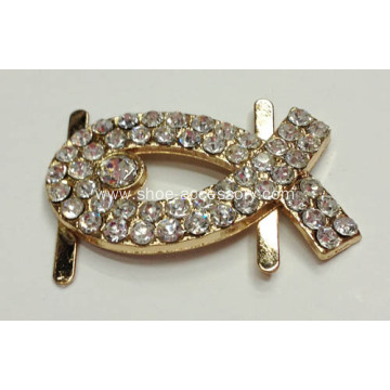 Lady Shoe Buckle Replacement, Gold Buckle for Women
