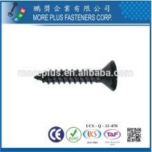 Fabriqué en Taiwan DIN7983 Acier au carbone à galvanisé Phillips Drive Oval Head Self Tapping Screws
