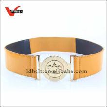 Good Quailty Golden Buckle Women's Elastic Belt