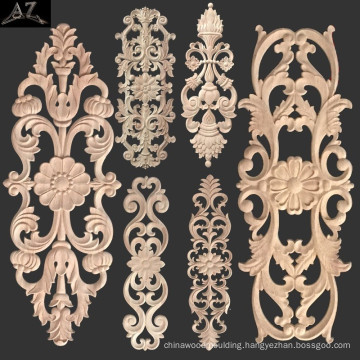 wood carving Hollow Scroll decorative Center Onlay