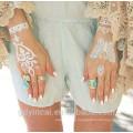 Дизайн elegent кружева татуировки наклейки,украшения невесты ,сексуальная и моды
