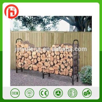 Brennholz-Log-Rack, Kaminböcke, Holzblock Rack, Schmiedeeisen Log Rack, Brennholz Lagerregal Metall