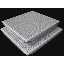 Teto de alumínio perfurado falso teto telhas