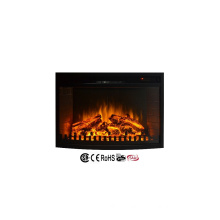"""110-120V 28"""" infrared insert electric fireplace heater with fence"""