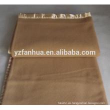 Top calidad llano lana tiro Hotel y militares utilizan mantas