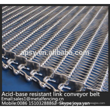 High density flat surface heat resistent stainless steel wire conveyor mesh belt