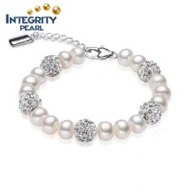 Подлинная Pearl браслет Популярные Pearl браслет 8-9мм AAA пресной воды жемчуг браслет