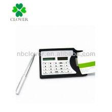 Name card holder pocket calculator with pen