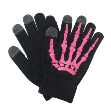 Fashion Printed Acrylic Knitted Touch Screen Winter Magic Gloves (YKY5439-1)