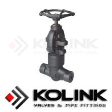 Válvula de Globo de Vedação de Pressão (Forjada) com API6d, PED / Ce