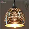 Black Metal Hollow Round Pendant Lighting with Dining Room