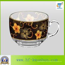 Nizza Blumen-Bier u. Kaffee-Glasbecher-Set Tee-Schale