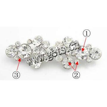 Gets.com zinc alloy custom letter rhinestone brooch pins