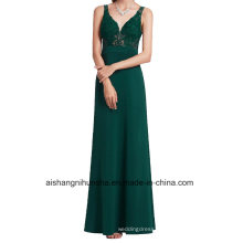 Formal Evening Gowns Sexy V-Neck Cut-out Lace Appliques Bridesmaid Dress