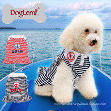 New Custom Anchor Stripe Summer Spring Pet Puppy clothes dog dress