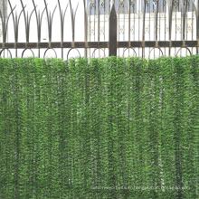 Clôture artificielle verte de jardin décoratif en plastique à vendre