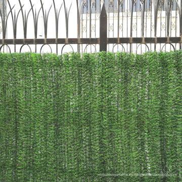 Cerca verde artificial artificial del jardín decorativo plástico para la venta