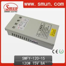 120W 15V 8A IP40 Rain-Proof Power Supply Smfy-120-15