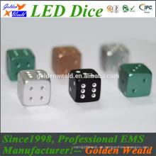 bunte LED 20mm Aluminiumlegierungswürfel