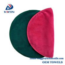 Hot sale 40x20cm super soft blue microfiber face make up remover cloth/ removal face towel