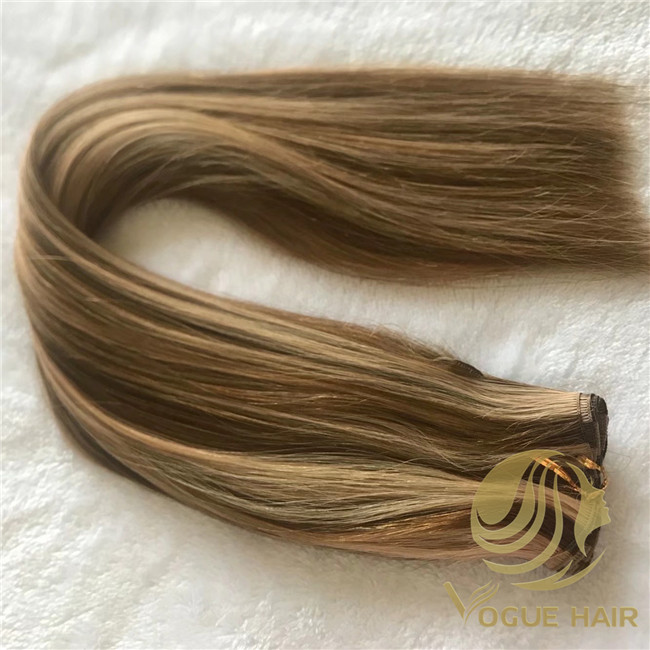 hand tied weft hair extension