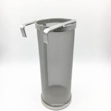 Trichter-Filter-rostfreies Bier-Fass-trockenes hoffendes Hauptgebräu 4x10 Zoll-Trichter-Spinnen-Sieb-Hauptbräuungs-Pellet-Hopfen 300 Maschen-Filter